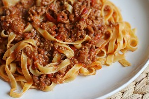 tagliatelle-with-bolognese-sauce